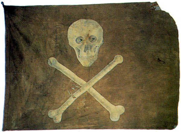 Barbary pirate flag believed to be 19th century