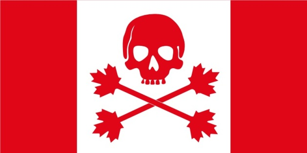 Canadian-themed pirate flag