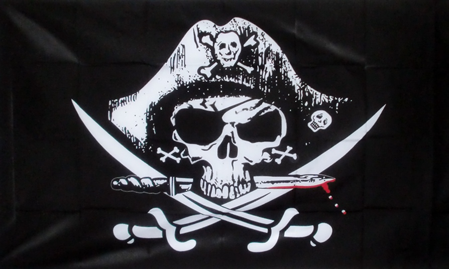 Radio Konton Studio Pirate Flag