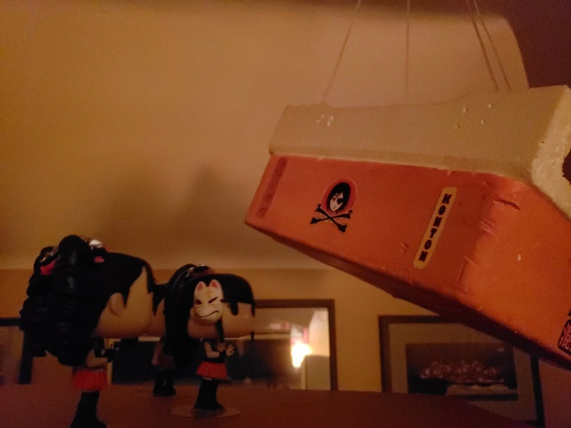BABYMETAL Space Funkos reminiscing about their Space Journey while looking at the original platform